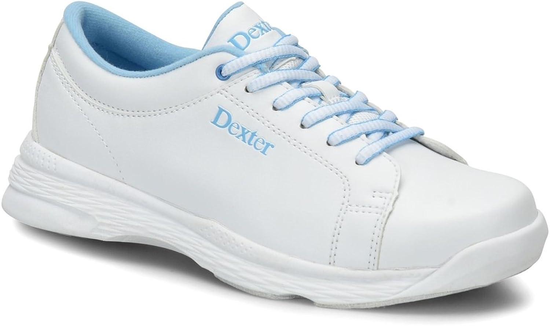 Dexter Womens Raquel V Bowling shoes Wide Width- White bluee