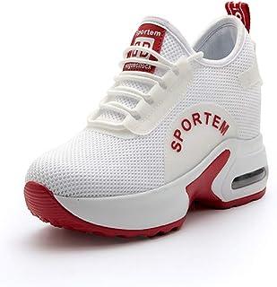 312278cf85fbe9 AONEGOLD® Baskets Compensées Femmes Confortable Chaussure de Sport Gym  Fitness Sneakers Plateforme Casual Baskets Talon