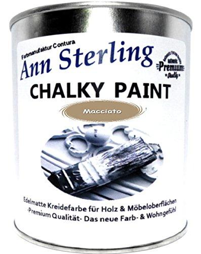 Ann Sterling Kreidefarbe Shabby Chic Farbe: Macchiato/Braun 1Kg. / 750ml. Lack Chalky Paint