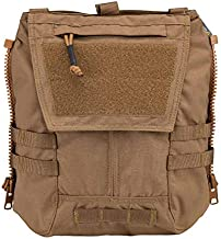 IDOGEAR Tactical Zip-on Panel Pouch Military Backpack Vest Accessory Bag for CPC AVS JPC2.0 (D:Coyote Brown)