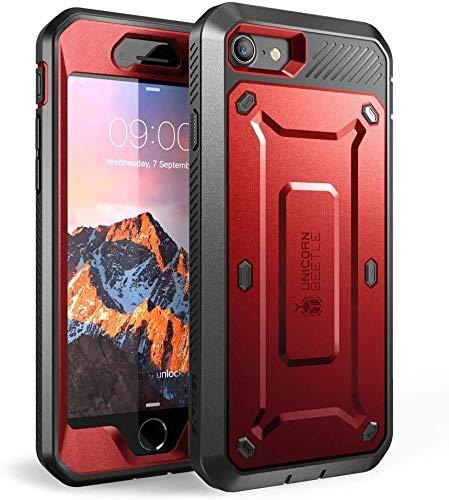 SupCase Funda iPhone SE / 7/8 [UB Pro] 360 Carcasa Completa Antigolpe Case con Protector de Pantalla Integrado para Apple iPhone SE 2020 iPhone 7 iPhone 8 (Rojo)