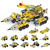 U & I Direct Building Block Set Toys 566 PCS Construction Truck for 6 7 8 9 10 11 12 Yr Old, Educational Engineering STEM Building Kit,Ideal Festival Birthday Gifts for Kids