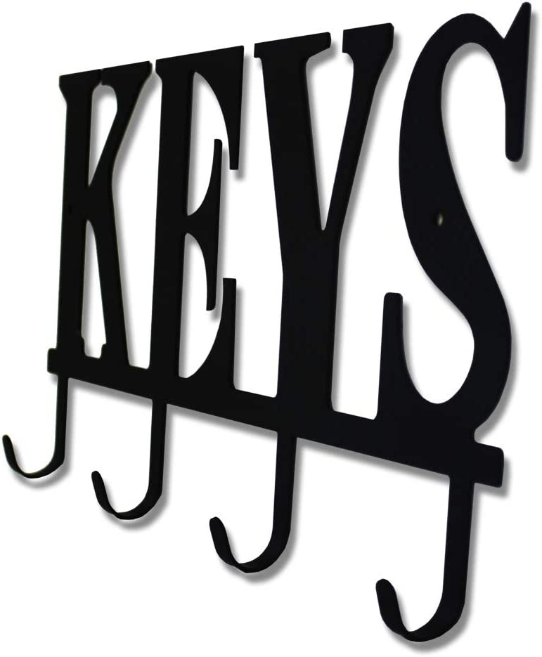 Key Holder Hooks Organizer Rack Wall Mounted with Screws and Anchors Home Wall Metal Decor for Entryway Front Door Kitchen Hallway Garage Mudroom Office 5.9x13 inches