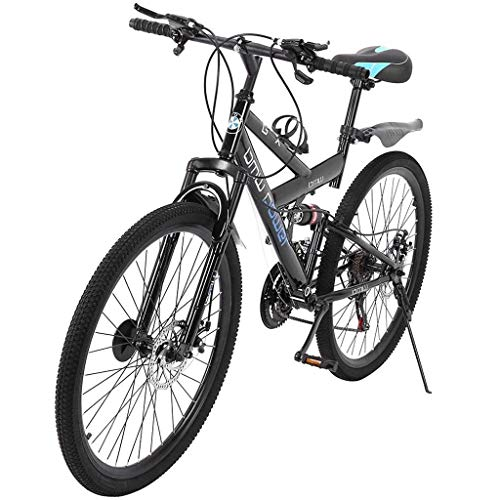 MRktkr Outroad Mountain Bike, 26 Inch Mountain Bike with 21 Speed Dual Disc Brakes, Comfortable Outdoor Cycling for Women and Men