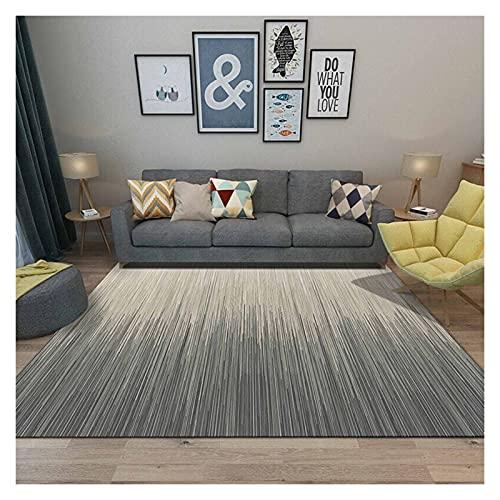 XXN Alfombra grande para sala de estar, moderna, felpa, alfombra de interior, dormitorio, antideslizante, alfombra de juegos para niños (140 x 200 cm)
