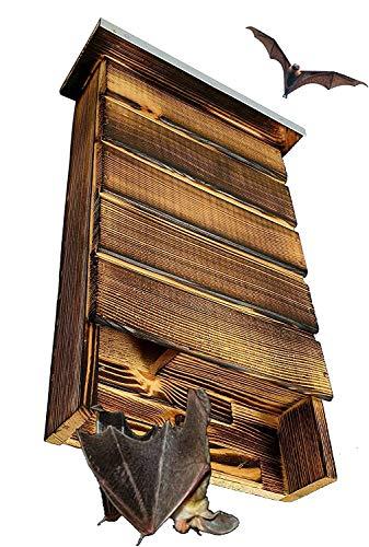 BLIZNIAKI BAT Box Fledermaus-Kaste Fledermaushaus aus Holz Nistkaste Fledermauskasten zum Aufhängen Unterschlupf für Fledermäuse Schläger Geeignet für Fledermäus (BDN1 Opal)