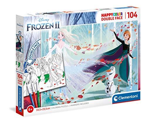 Clementoni-La Reina de Las Nieves, 104 Piezas, Puzzle para Colorear, Fabricado en Italia, 6 años en adelante, 25716