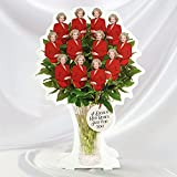 The Golden Girls – A Dozen Red Roses Printed Bouquet – Features Betty White, Anniversary, Mother's Day, Birthday, Valentines Day Gift & Decor for Wife, Moms, Daughters, Grandma and Friends