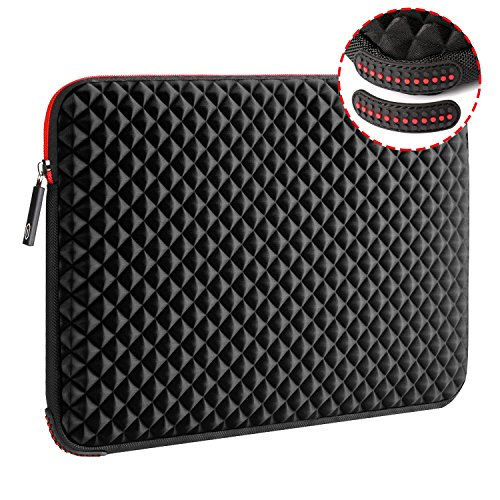 WIWU 17.3 Inch Diamond Laptop Sleeve Case with Super Corner Protection & Water Repellent Laptop Bag for MacBook Pro/Dell Inspiron/MSI/HP Pavilion/Lenovo ideapad/Acer/HP Omen
