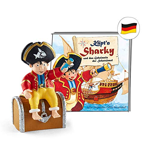 tonies Hörfiguren für Toniebox - Käpt'n Sharky - Käpt'n Sharky und das Geheimnis der Schatzinsel - ca. 41 Min. - Ab 3 Jahre -DEUTSCH