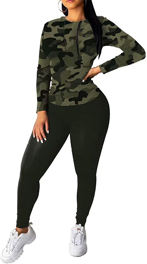 Women Two Piece Outfits Leopard Print Pullover and Bodycon Leggings Suits Tracksuit Jogging Clubwear