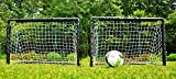POWERSHOT Fußballtor Garten 90 x 60 cm - 2er Set - inkl. Netz, Stecksystem und Bodenanker - Fussballtor Mini