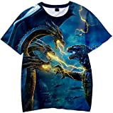 PANOZON Camiseta para Niños Impresión 3D de Godzilla para Fanes de Godzilla Monstruos T-Shirts...