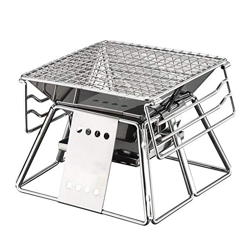 AINY Kohlegrill, Mini Tragbarer Faltender Grillgrill Für 4-6 Personen, Für Picknick- Und Hausgarten-Kampieren Im Freien