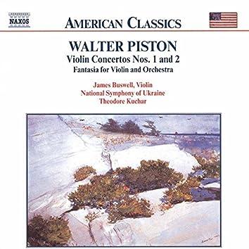 Walter Piston: Works for Violin & Orchestra