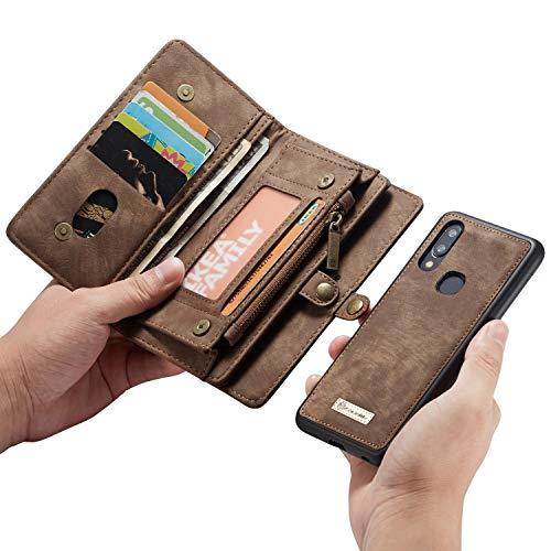 QH para Samsung A40 Wallet Holster, Soporte De Ranura De Tarjetas...