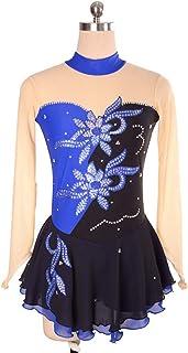 カスタマイズされた子供の大人のフィギュアスケートの服装の性能の衣服の競争の等級のスカート,8,KidsSize:XXXS