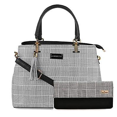 Bellissa PU Leather Combo Handbag for Women (Black)