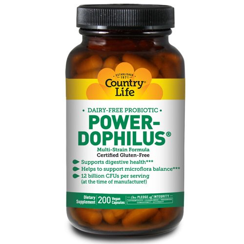 COUNTRY LIFE VITAMINS POWER-DOPHILUS,MILK FREE, 200 VCAP