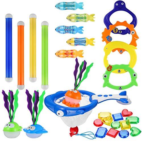 iBaseToy 30 stuks Spielzeug für Pool - Duikspeelgoed Voor Het Zwembad, Onderwater-Zwem-Duikspeelgoed - Pool Kinder Spielzeug