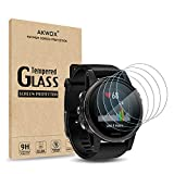 AKWOX (Pack of 4) Tempered Glass Screen Protector for Garmin Fenix 5S [0.3mm
