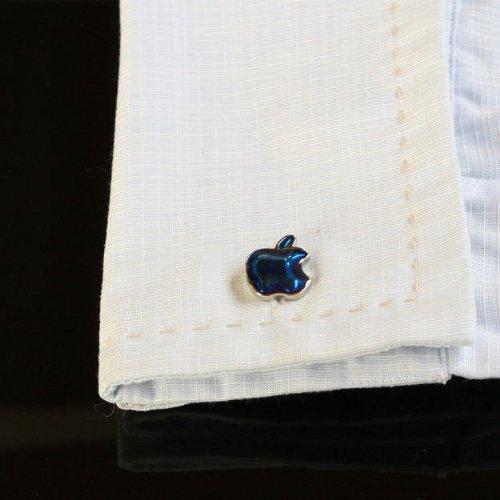 鎌倉カフス工房『ブルーアップルカフスボタン(cf113)』