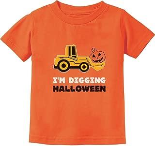 Pumpkin Face Tractor I'm Digging Halloween Cute Toddler Kids T-Shirt