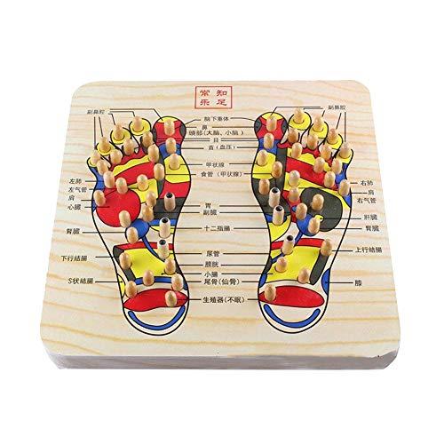 Sunneey Fußmassagegerät Holz, Akupunkturpunkt Fussmassagegerät, Zehenplatte Fußmassage, Massage Fussmassage, Elternteil, Plantarfasziitis Lindern