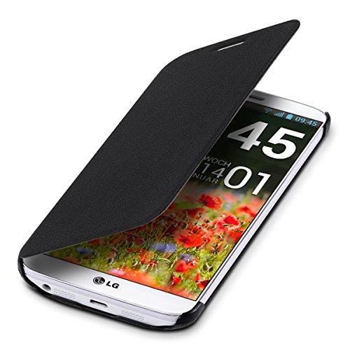 kwmobile Cover Compatibile con LG G2 - Custodia Protettiva apribile a Libro - Flip Case con sportellino