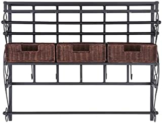 Black Metal Frame 6 Movable Racks Southern Enterprises Easel//Wall Mount Craft Storage Rack