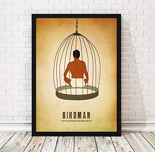 Alejandro González Iñárritu Birdman Minimalist Movie Poster, Artwork Print, Unframed Print, Office Decor, Home Decor, Wall Hanging, Cafe Decor