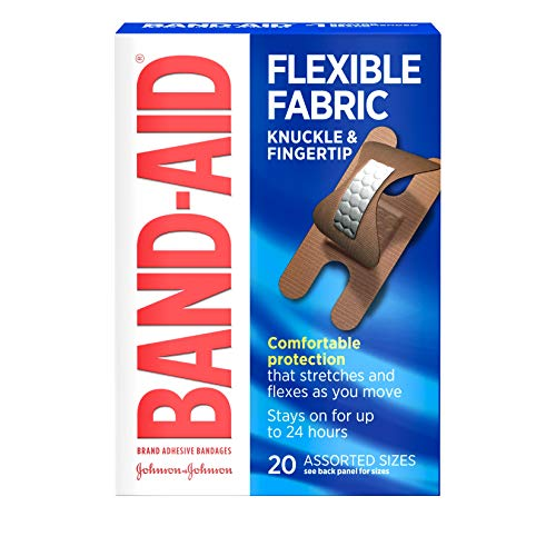 Band-Aid Band-Aid Flexible Fabric Adhesive Bandages Knuckle Fingertip, 20 each (Pack of 2)