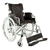 GIMA Carrozzina Royal, sedia a rotelle con seduta 46 cm, tessuto nero...