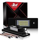 WinPower LED Luces de matrícula para coche Lámpara Numero plato luces Bulbos 3582 SMD con CanBus No hay error 6000K Xenón Blanco frio, 2 Piezas