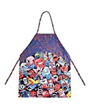 Lucomore Cotton Kids Apron for Boys and Girls   Children Colorful Kitchen Girl and Boy Apron ages 4-11, for Kids Cooking Baking Painting Crafting Gardening and Party Gifts