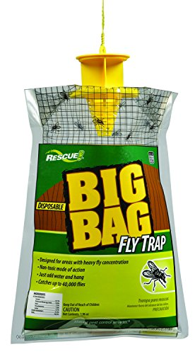 RESCUE Outdoor Non-Toxic Disposable Big Bag Fly Trap, 1 Pack