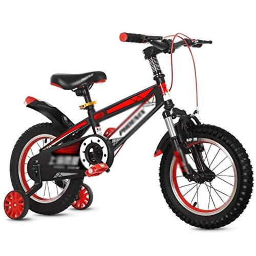 DSHUJC Bicicletas para niños, Bicicleta para niños Bicicleta de montaña 12'14' Niño Niña Seguridad en Bicicleta Freno de Disco Doble Equilibrio de conducción en Carre