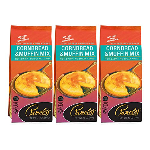 Pamela's Gluten Free Cornbread and Muffin Mix, 12 oz (Pack of 3)