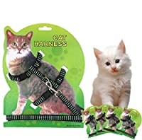 One Size Blue Hot Sale 4 Colors Cat Harness And Leash Nylon Products For Animals Adjustable Pet Traction Harness Belt Cat Kitten Halter Collar
