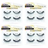 Andrea Two of a Kind False Lashes #33 Black, 4 Pack