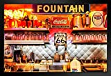 Route 66 Diner Soda Classic Fountain Vintage Photo Art Print Stand or Hang Wood Frame Display Poster Print 13x9