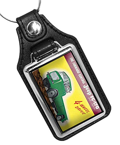 Brotherhood Jeep FC-170 4 Wheel Drive Design Keychain Key Holder Faux Leather Key Ring for Men Heavy Duty Car Keyring for Men and Women