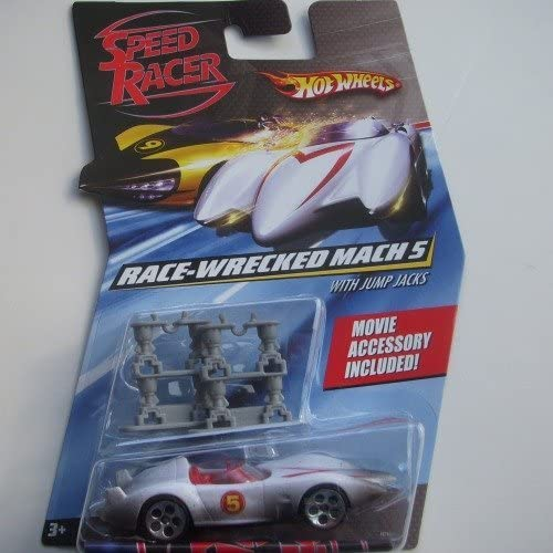 Hot Wheels Speed Racer Race Wrecked Mach 5 with with Jump Jacks by Hot Wheels