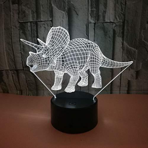 TYWFIOAV Dinosaur 3D night light colorful touch LED stereo vision gift 3D air light device light emitting diode LED children's light lamp