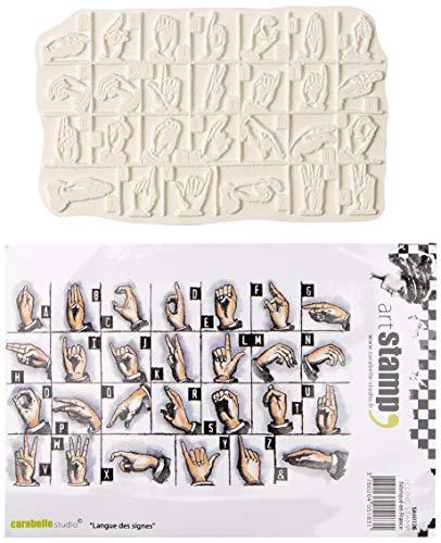 Carabelle Studio Sign Language Cling Stamp Art, Stempel Set, Gebärdensprache, für Papierbasteln, Stempelprojekte, Kartengestaltung und Scrapbooking