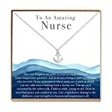 Nurse Necklace - Heartfelt Card & Jewelry Gift for her Birthday, Holidays & More (Anchor)