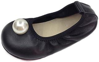 zaragfushfd Girls Casual Flats Ballet Flats Folding Shoes Dancing Egg Rolls Boat Shoes