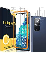 UniqueMe [2+3 Pack Gehard glas Screen Protector & Camera Protector Compatibel met Samsung Galaxy S20 FE 6.5 inch (4G/5G), Real 9H Hardheid, Vingerafdruk Compatibel