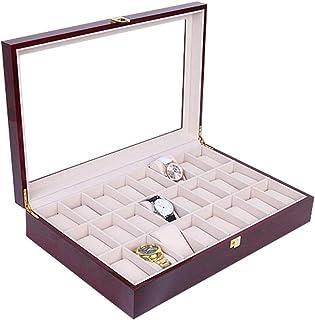 Lwieui Cajas de Reloj Alto Grado de pulverización de Pintura Reloj Caja de Reloj Caja de Madera Caja de Reloj de Madera só...