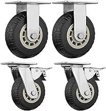 4-delige bureaustoel met zware elastische kracht Draaistoel universeel wiel, Flatbed Truck Trolley Industry Directional Wh...